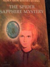 Nancy Drew Mystery: The Spider Sapphire Mystery #45; Vintage 1968