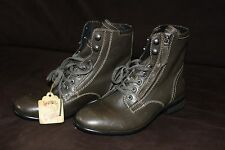 DIESEL  Mens Fashion  Casual Side Zip Green Leather Boots 8,5