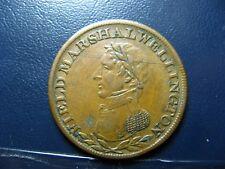 WE-2A2 Halfpenny token Wellington token Canada 7.97g Clipped Breton 971