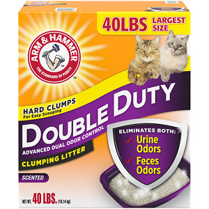 Arm And Hammer Double Duty Clumping Cat Litter 40lb Box