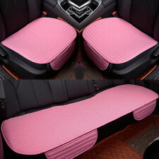 3D Universal Car Seat Cover Breathable PU/Linen Pad Mat for Auto Chair Cushion