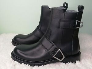 DIESEL Men Black * COW LEATHER*  BOOTS Size: uk 6/ Eu 40,  NEW