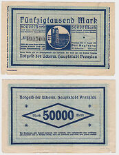 50000 Mark Banknote Notgeld der Uckermark Hauptstadt Prenzlau 1923 (120258)