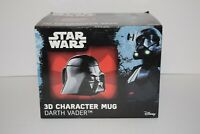 Star Wars Darth Vader Mug Ceramic Coffee Cup with Lid Black 3D Character