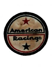 Wicked Quick American Racing Logo Patch - Vintage White Embroidered - Made in US
