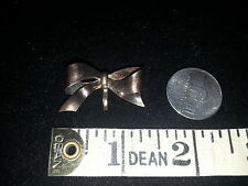 Carl Art gold fill over Sterling Silver Bow Enhancer Pin / watch Brooch