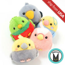 "Genuine 3.5"" Kotori Tai Amuse Fluffy Birds Plush Ball Chain Keychain Kawaii Cute"