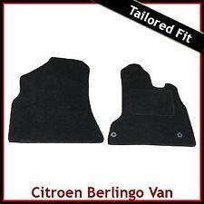 CITROEN Berlingo Van Mk2 2008 en Adelante a Medida Alfombra Alfombrillas De Coche Negro Equipada
