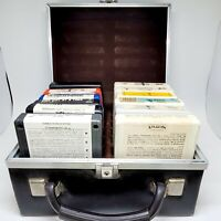Lot of 12 Vintage 8-Track With Hard Case