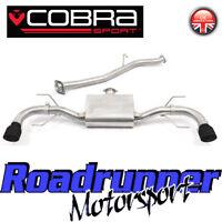 "Cobra Mazda RX8 Exhaust RX-8 2.5"" Cat Back System Black Tails 03-12 MZ08-TP38BLK"