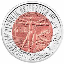 Austria 2011 Robotik Mars Rover ~Silver Niobium~ ExoMars Robot 25 Euro COTY COA