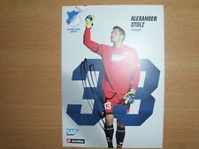 Hoffenheim 1 Autogrammkarte Saison 17/18 Alexander Stolz original signiert  rar