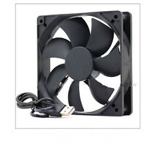 DC 5V 120x120x25mm  USB Computer Case Silent Cooling Fan 12025 Black Super quiet