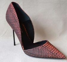 Kurt Geiger Red Snakeskin Beaumont shoes w/Cigarette Heels Sz 40 - US Sz 10