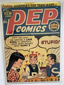 PEP COMICS 96 3.5 VG- 1953 ARCHIE KATY KEENE GGA VERONICA JUGHEAD CLASSIC
