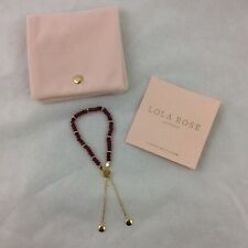 BN LOLA ROSE WILTON PLACE RED QUARTZITE FRIENDSHIP BRACELET