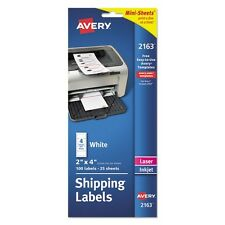 Avery White Mini Sheets Mailing Labels For Laser & Ink Jet Printers - 2163