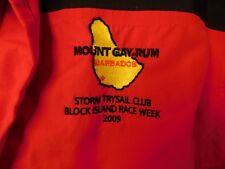 MOUNT GAY RUM JACKET SKI SNOWBOARD STORM TRYSAIL CLUB BLOCK ISLAND RACE WEEK L