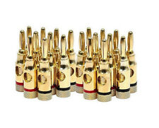 10-Pair/20-Pack Banana Plugs Copper Connector 5.1 Home Theater Speaker Wire Plug