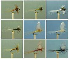 54 Artflies Midge Dry Flies, Flash Body Parachute. Biot. Trico, #20. [MG54]