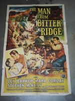 "Original THE MAN FROM BITTER RIDGE 1955 One Sheet Movie Poster 27"" x 41"