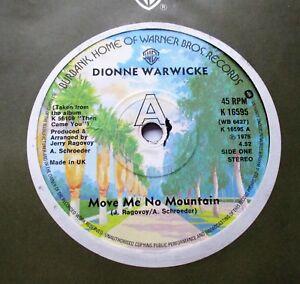 DIONNE WARWICK    MOVE ME NO MOUNTAIN c/w WE'LL BURN OUR BRIDGES BEHIND US