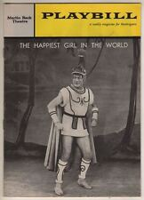 """Cyril Ritchard  """"The Happiest Girl In The World""""   Playbill   1961"""