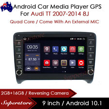 """9"""" Android 10.1 Car Stereo Non-DVD GPS Radio Head Unit For Audi TT 2007-2014 8J"""