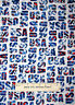 Patriotic Red White Blue USA Letters Cotton Fabric Windham USA Collection YARD