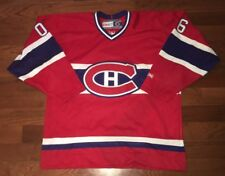 VINTAGE CCM Montreal Canadiens Jersey Adult Large Red/White/Blue DC Parmet