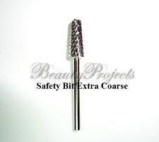 "1pc Silver Safety Bit Extra Coarse Carbide Electric File Nail Drill 3/32"" XC"