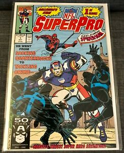 NFL Super Pro #1 (October 1991) Comic - Marvel Comics - Featuring SPIDER-MAN