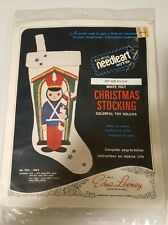 Vintage Edna Looney Christmas Stocking Needleart Kit  TOY SOLIDER SEALED PACKAGE