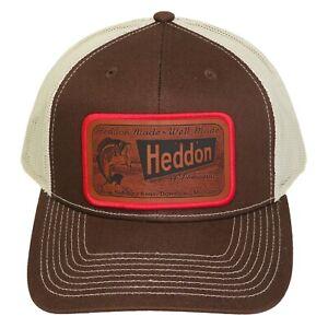 Heddon Dowagiac Lures Trucker Cap Mesh Back Snap Back Leather Patch Merrow Hat