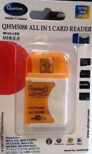 Quantum QHM5088 Card Reader All in One For MINI SD, MMC, SD Micro SD LED .