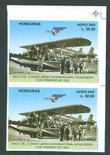 PAN AMERICAN Honduras Yv Block # 84 Pair Imperforate MNH FVF