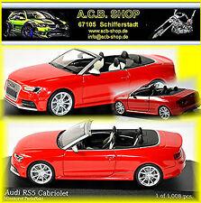 Audi RS 5 Cabriolet 2012-14 rouge rouge 1:43 Minichamps