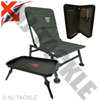 Fishing Chair Adjustable Legs & Mud Feet Lightweight + Table + Rig Board Vardis