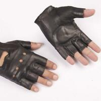 1 Pair Mens Leather Fingerless Driving Motorcycle Bike Gloves Sporting Gift w/