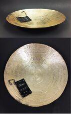 "12"" AKCAM METALLIC GOLD,GENUINE SILVER,FORGED GLASS BOWL-PLATTER,DISH-TURKEY"
