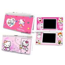 ESHINY Red Vinyl heart Kitty cat Cover Decal for Nintendo DS Lite Sticker NDSL31
