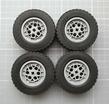 LEGO 86652 Wheel  62.4x20 with Short Axle Hub 32019 with Black Tire 62.4x20   x4