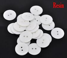 10 Blanco Clásico Botones de costura de resina 23mm Costura, Manualidades Scrapbook