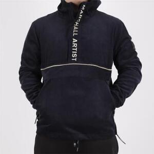 Mens Marshall Artist Cord Navy/Stone Half Zip Jacket (MA1) RRP £150