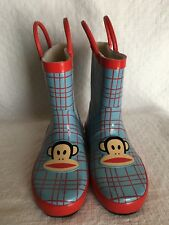 NEW Small Paul Frank Rain Boots Toddler Boy Girl XL 6T 13 Blue industries rare