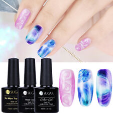 3Pcs Nail Art Blossom UV Gel Polish Soak off Topcoat Base Coat Gel Kit UR SUGAR