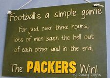 Simple Game Green Bay Packers Sign Handmade Football Bar Jersey Tickets Cards