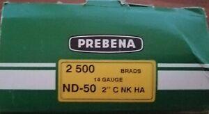 2500 Prebena ND - 50 Stauchkopfnägel 50 mm Sonderposten  solange Vorrat reicht