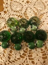 "New ListingTiny Green Turtle Glass Figurines 1"" with Magnets Lot of 7!"