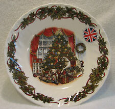"""QUEEN'S """"Christmas Morning"""" 8"""" SOUP/CEREAL BOWLS, Set of (4)"""
